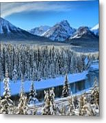 Bow River Valley View Metal Print