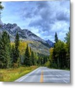 Bow Valley Parkway Banff National Park Alberta Canada Vi Metal Print