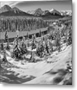 Morant's Curve Black And White Metal Print