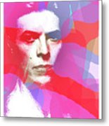 Bowie 70s Chic  Metal Print