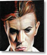 Bowie Thin White Duke Metal Print