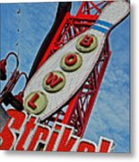 Bowl And Strike I Metal Print