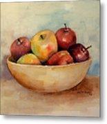 Bowl Of Apples Metal Print