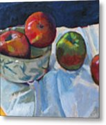 Bowl Of Apples Metal Print