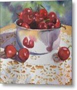 Bowl Of Cherries Metal Print