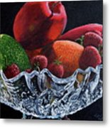 Bowl Of Fruit Metal Print