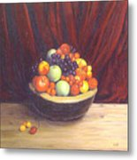 Bowl Of Fruits Metal Print