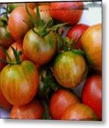 Bowl Of Heirloom Tomatoes Metal Print