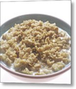 Bowl Of Oatmeal Metal Print