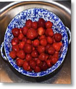 Bowl Of Strawberries 1 Metal Print by Douglas Barnett