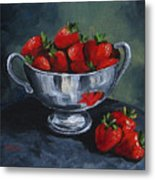 Bowl Of Strawberries  Metal Print