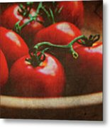 Bowl Of Tomatoes Metal Print by Toni Hopper