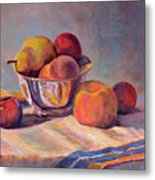 Bowl With Fruit Metal Print