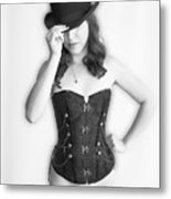 Bowler And Corset Metal Print