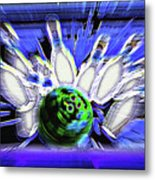 Bowling Sign - Strike Metal Print by Steve Ohlsen
