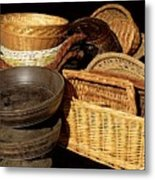 Bowls And Baskets Metal Print