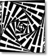 Box In A Box Maze Metal Print