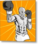 Boxer Boxing Knockout Punch Retro Metal Print by Aloysius Patrimonio
