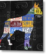 Boxer Dog Pet Owner Love Vintage Recycled License Plate Artwork Metal Print