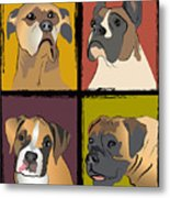 Boxer Dog Portraits Metal Print by Robyn Saunders