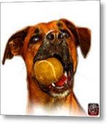 Boxer Mix Dog Art - 8173 - Wb Metal Print by James Ahn