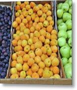 Boxes Of Fruit Metal Print