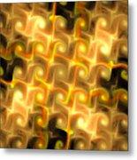 Boxes Yellow Art Metal Print