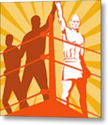 Boxing Champion Metal Print