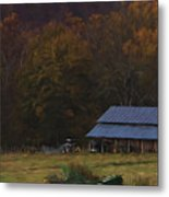 Boxley Valley Farm Metal Print