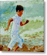 Boy By The Sea Metal Print