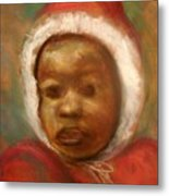 Boy In Red Metal Print
