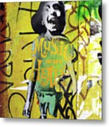 Boy In Yellow Metal Print