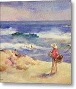 Boy On The Sand Metal Print by Joaquin Sorolla