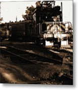 Boy On The Tracks Metal Print