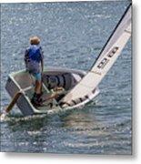 Boy Sailing Metal Print