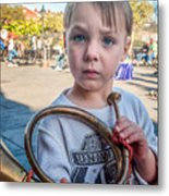 Boy With A Horn _ Nola Metal Print