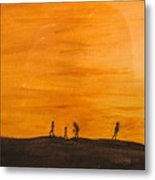 Boys At Sunset Metal Print
