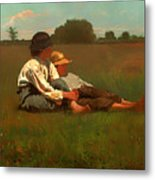 Boys In A Pasture Metal Print