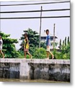 Boys In Bangkok Metal Print