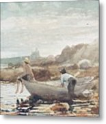 Boys On The Beach Metal Print by Winslow Homer