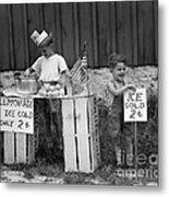Boys Selling Lemonade, C.1940s Metal Print