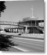 Bradford Beach House B-w Metal Print