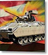 Bradley M2 Fighting Vehicle Metal Print