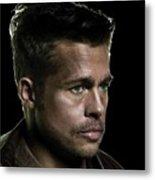 Brad Pitt As Lt Aldo Paine Publicity Photo The Inglourious Bastards 2009 Color Added 2016 Metal Print