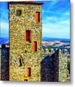 Braganca Castle Tower Metal Print