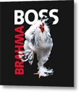 Brahma Boss II T-shirt Print Metal Print