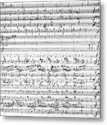 Brahms Manuscript Metal Print