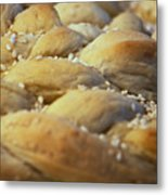 Braided Bread Metal Print