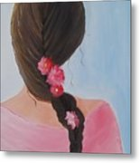 Braided Hair Metal Print by Glenda Barrett