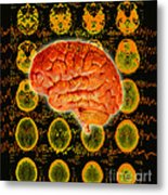 Brain Composite Metal Print